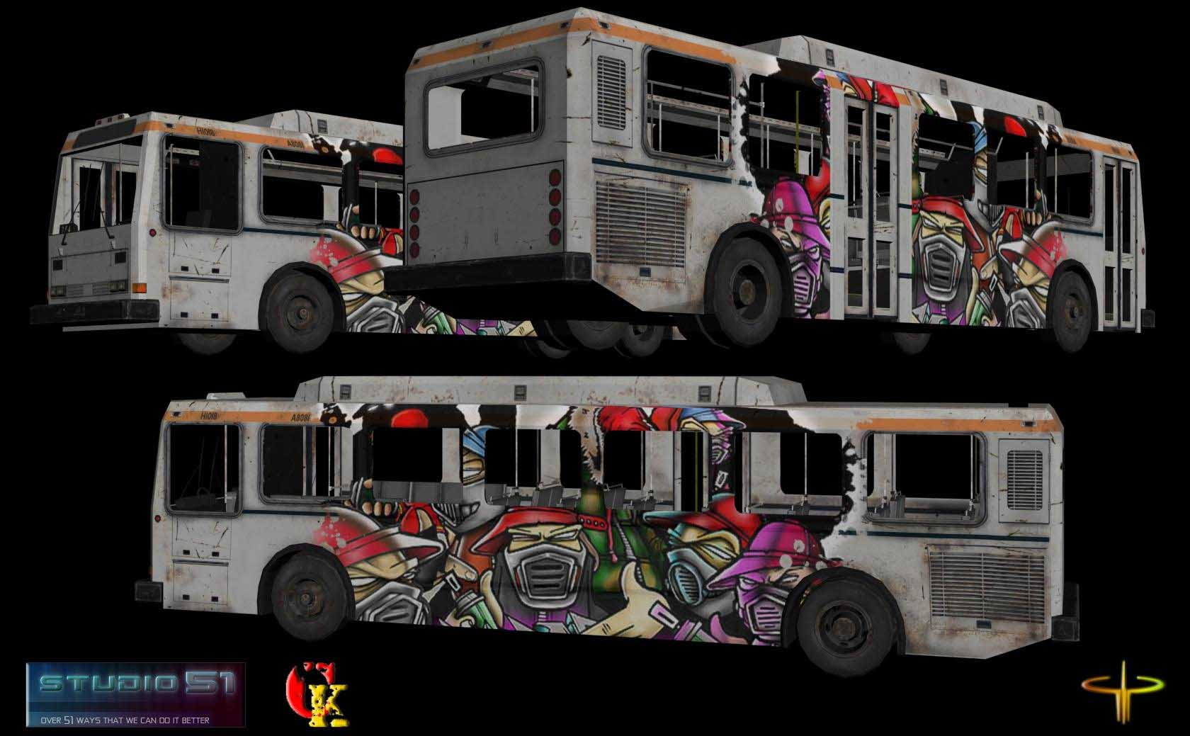 cod4, other / misc, graffiti bus, n/a