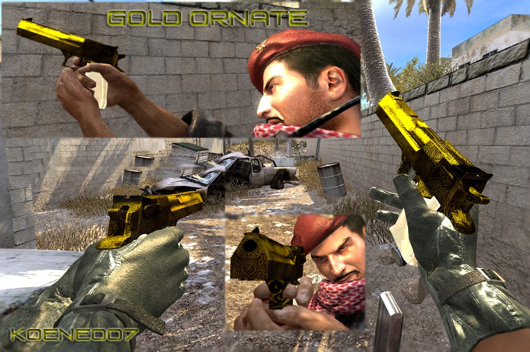 cod4, deagles, gold ornate, koene007