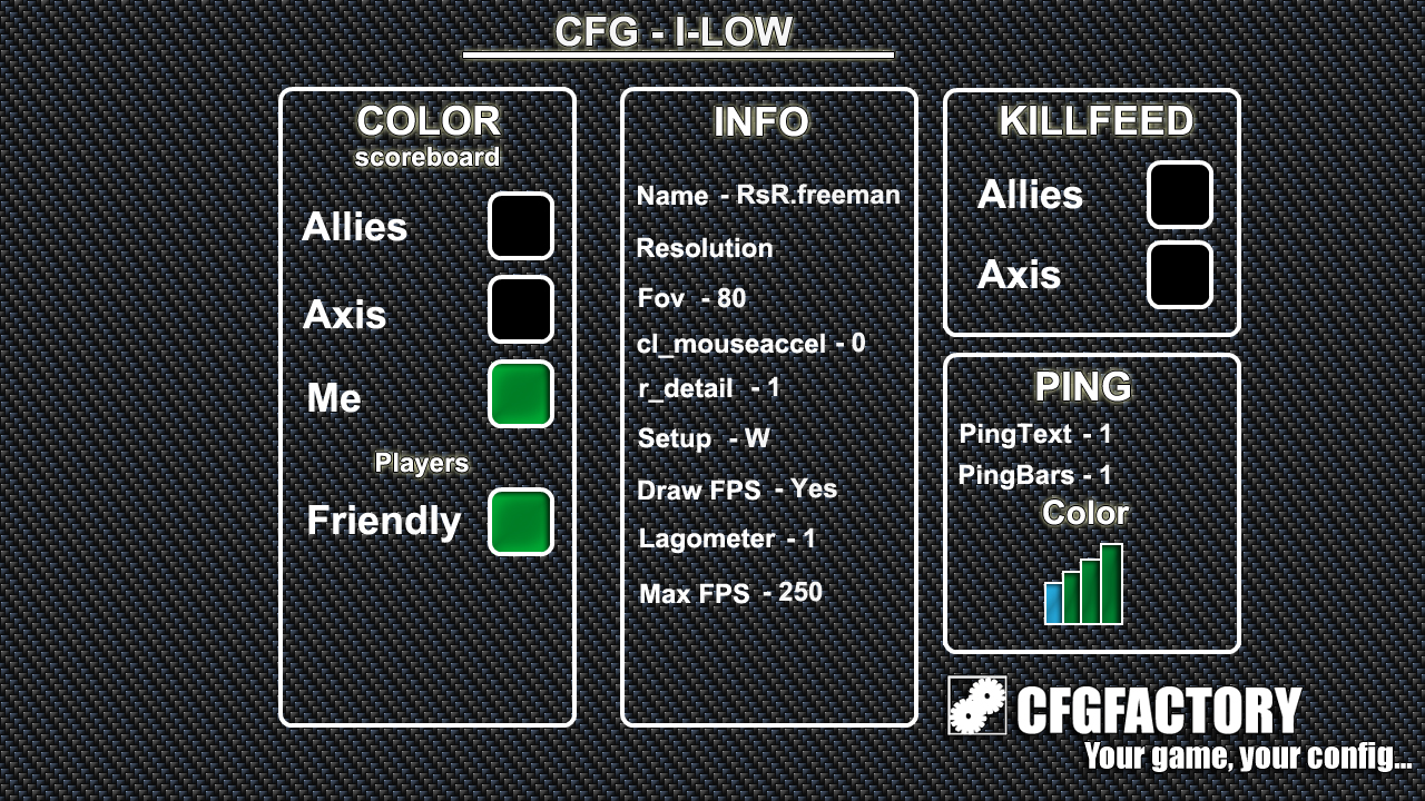 cod4, configs, i_low's cfg, i_low