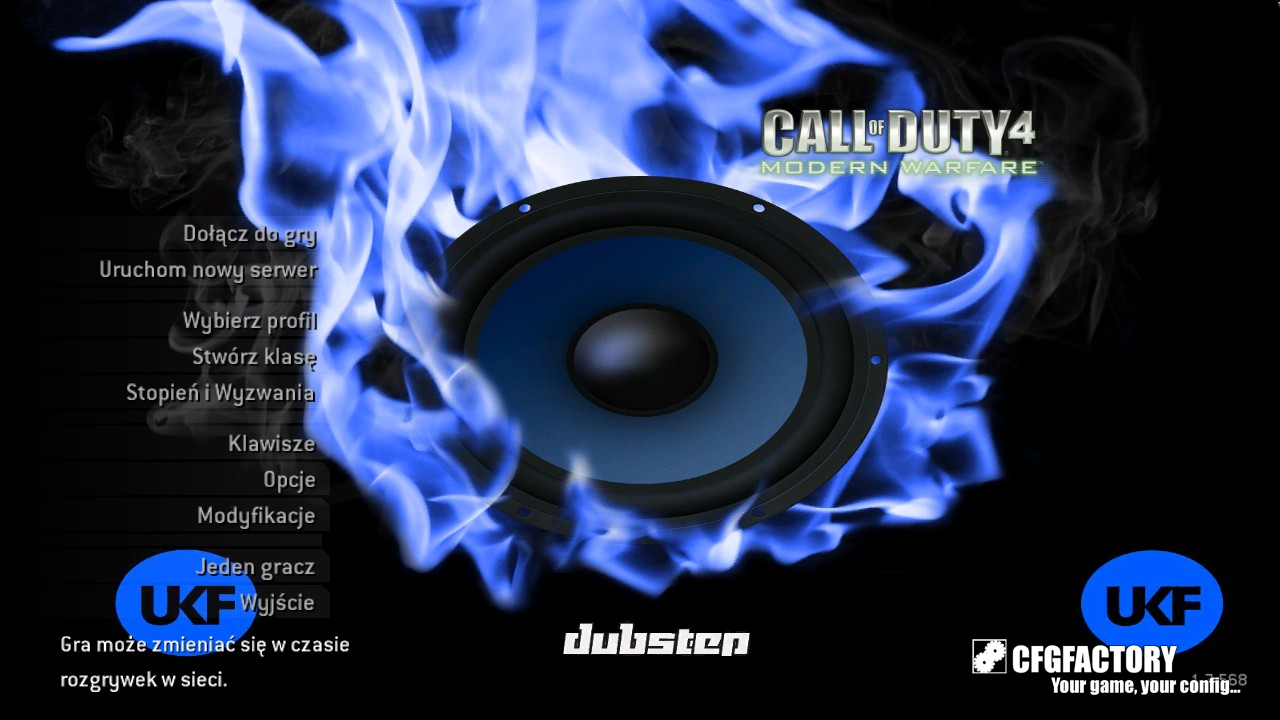 cod4, menu backgrounds, ukf background with some music , d.d
