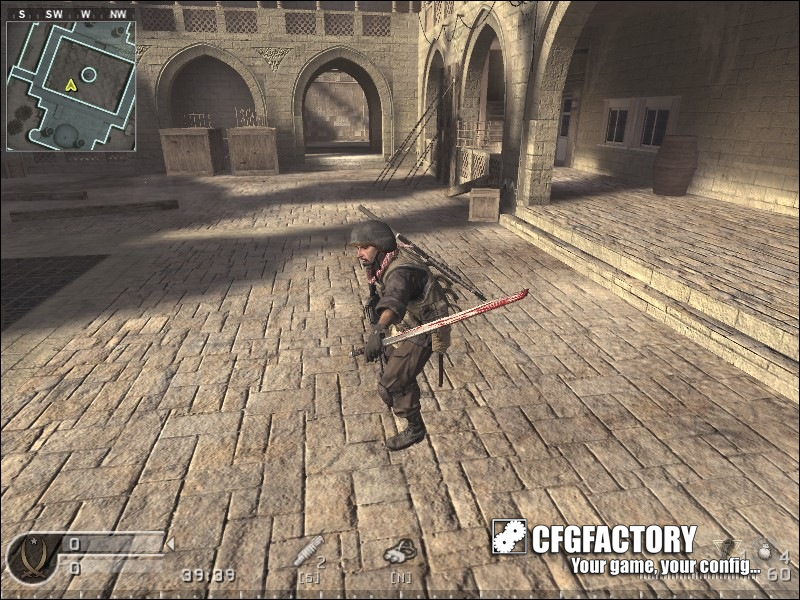 cod4, custom models, melee sword, crazyankles