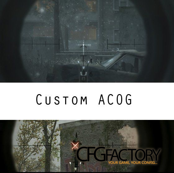 cod4, scope overlays, crucifix + crossfire acog, maiu