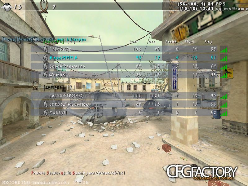 cod4, configs, hunterx cfg, hunterx