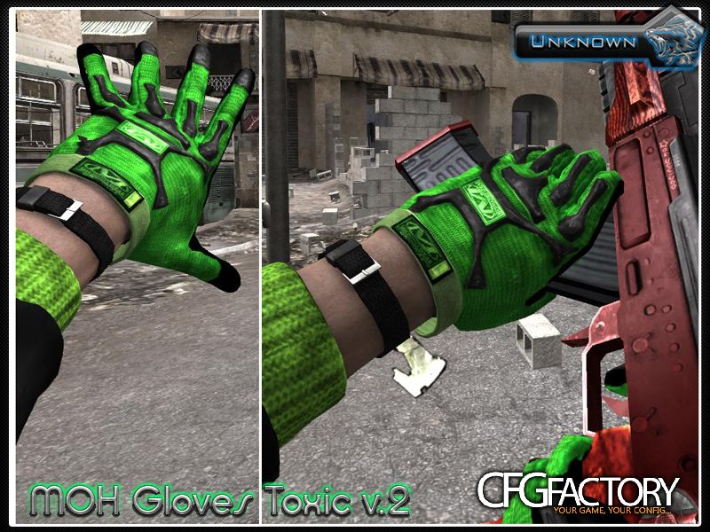 cod4, public custom models, moh toxic gloves v.2, unknown rus
