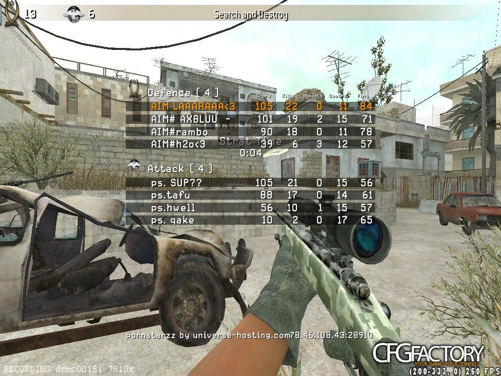 cod4, configs, aim m o s h~ cfg, for scope