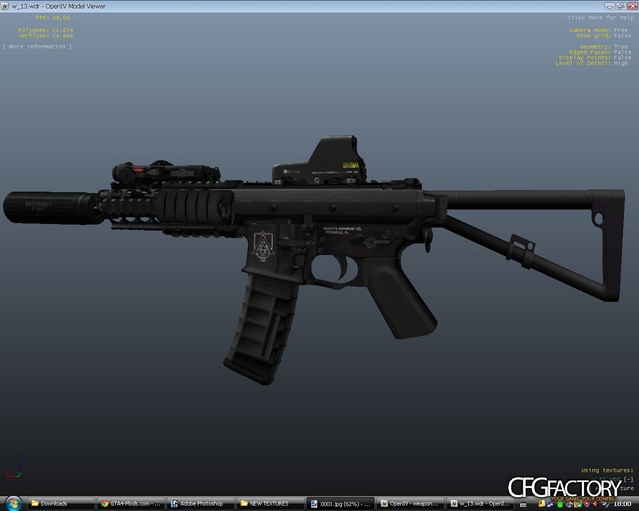 KAC-PDW + Silencer Option (Updated 1) download - CFGFactory