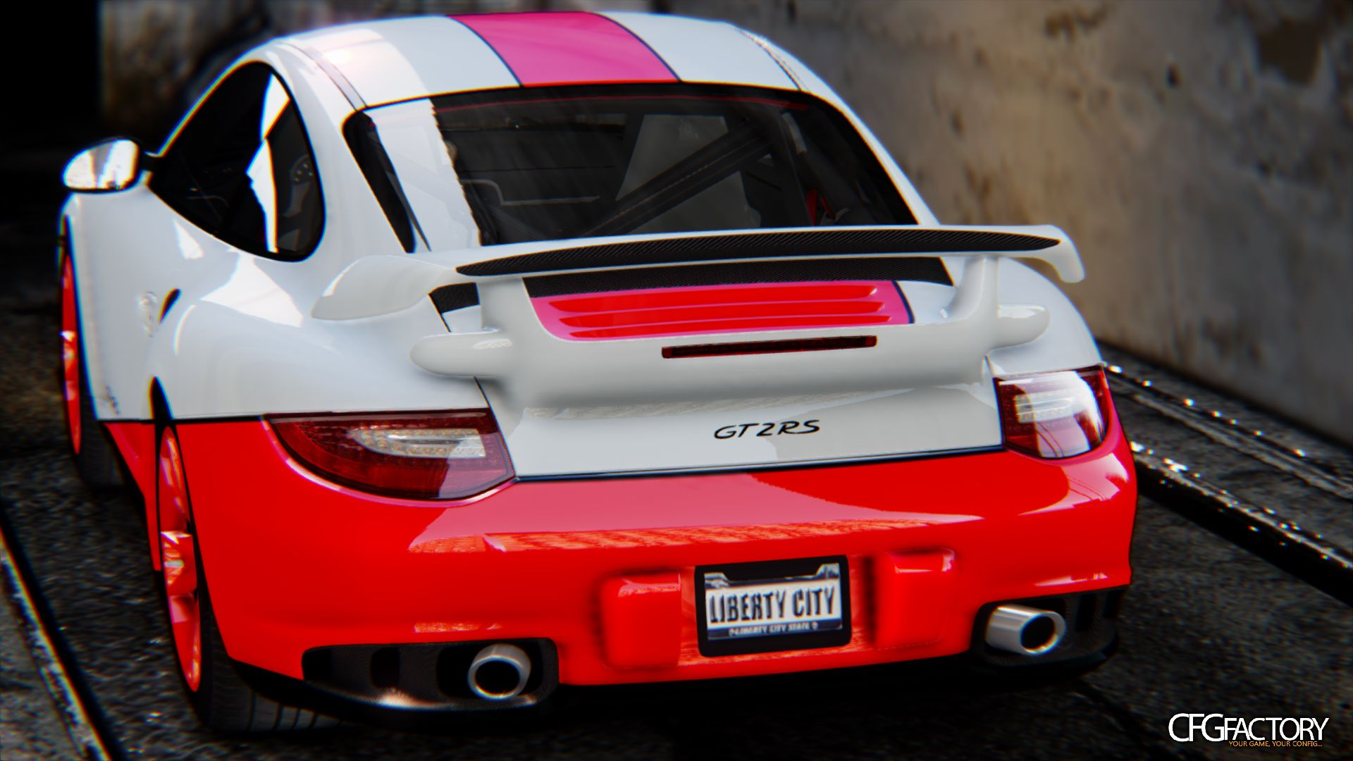 2012 porsche 911 gt2 rs red paintjob download cfgfactory. Black Bedroom Furniture Sets. Home Design Ideas