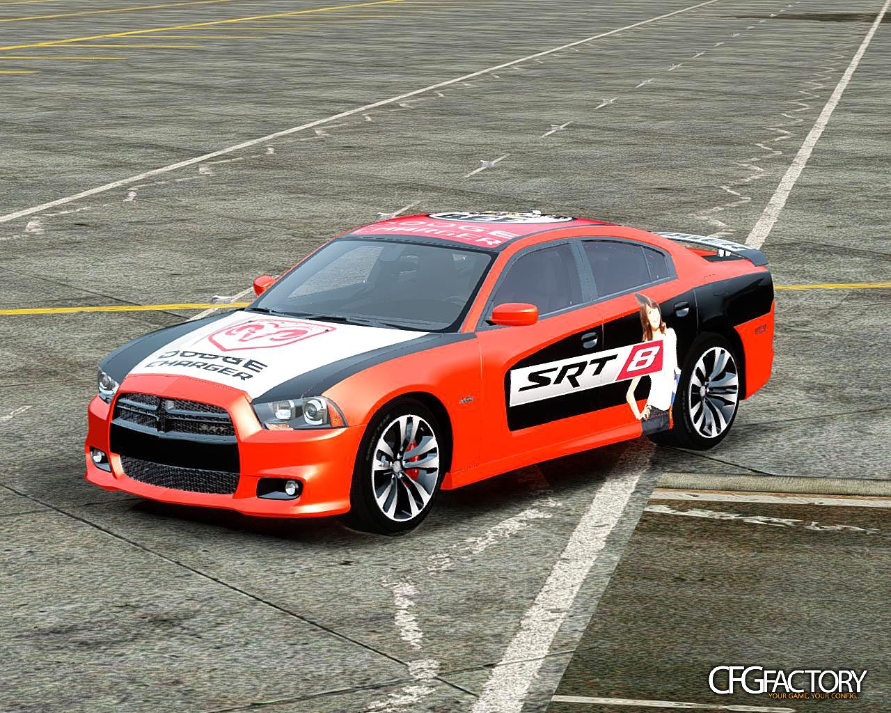dodge charger srt8 2012 paintjob download cfgfactory. Black Bedroom Furniture Sets. Home Design Ideas