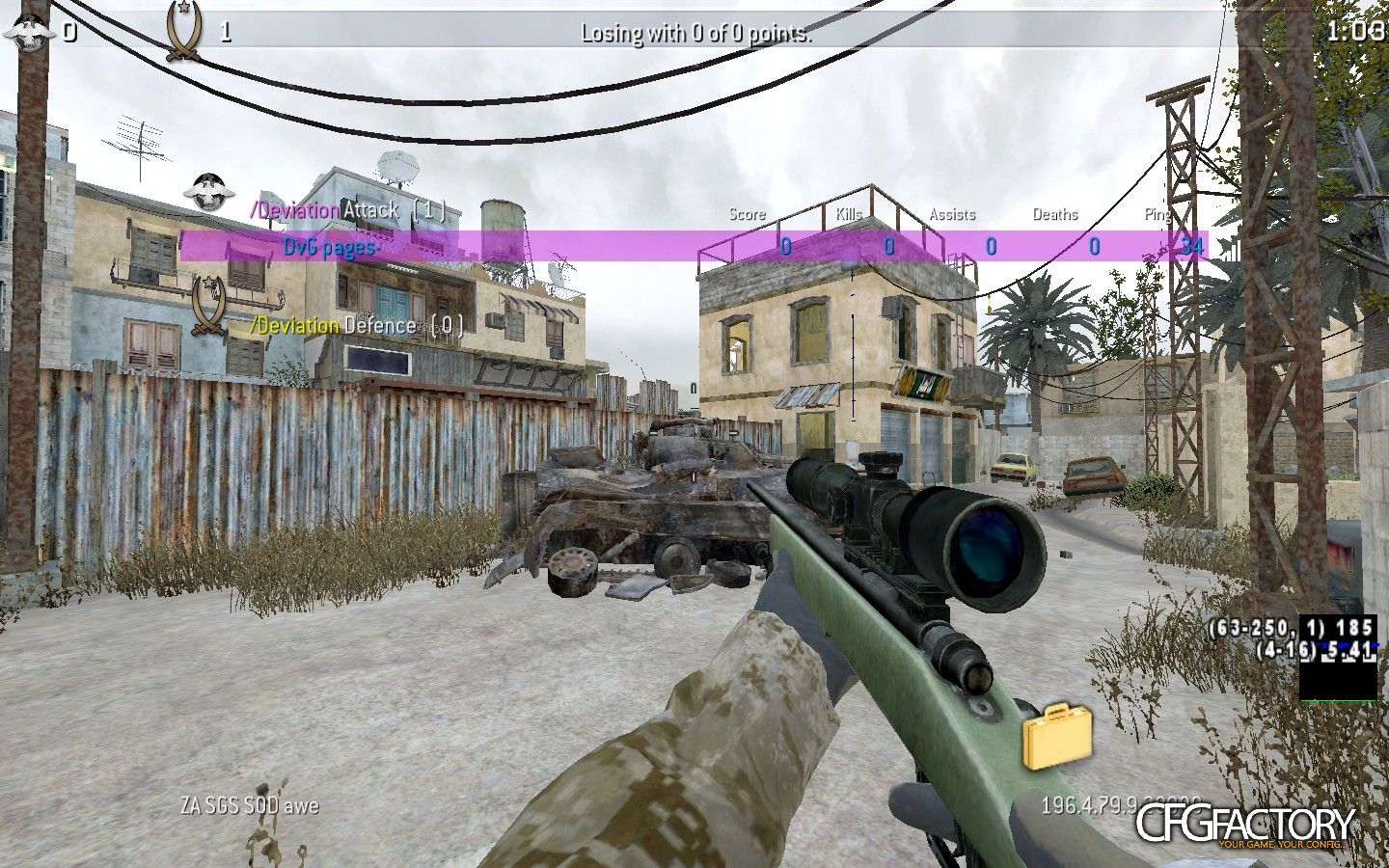 cod4, configs, pages- sick reg, pages