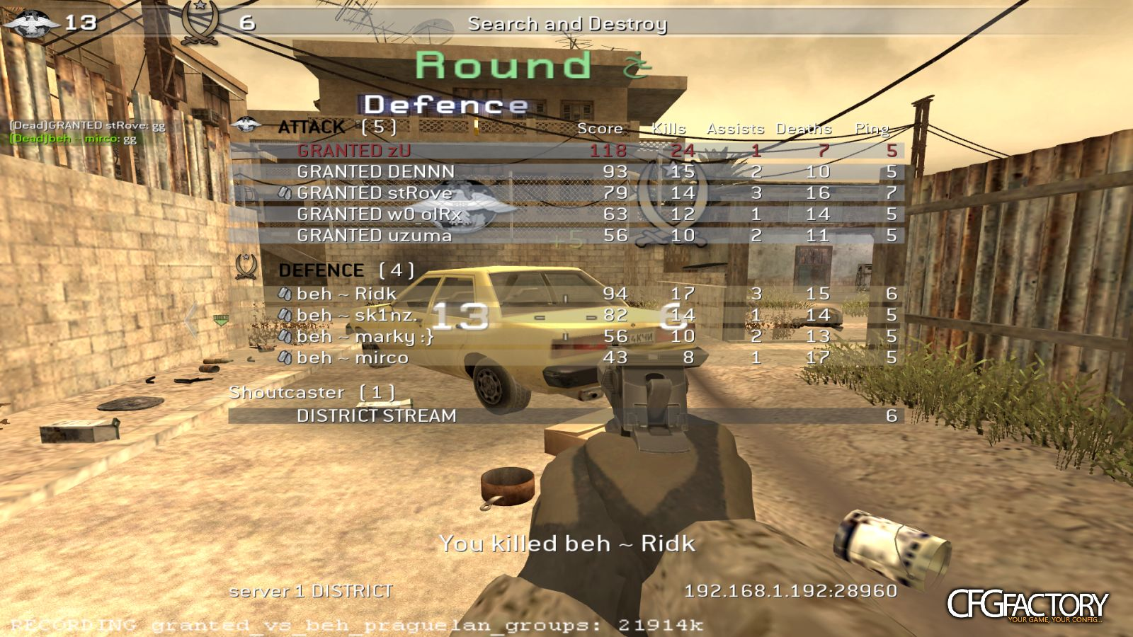 cod4, configs, granted cfg pack , lukzrr