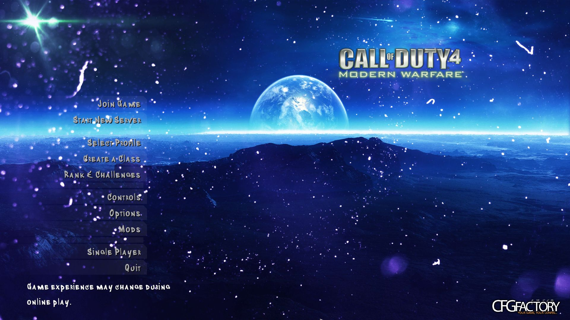 cod4, menu backgrounds, planetary cod4 menu screen, homewohrk