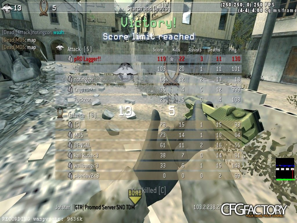 cod4, configs, gallowere config/cfg, austin