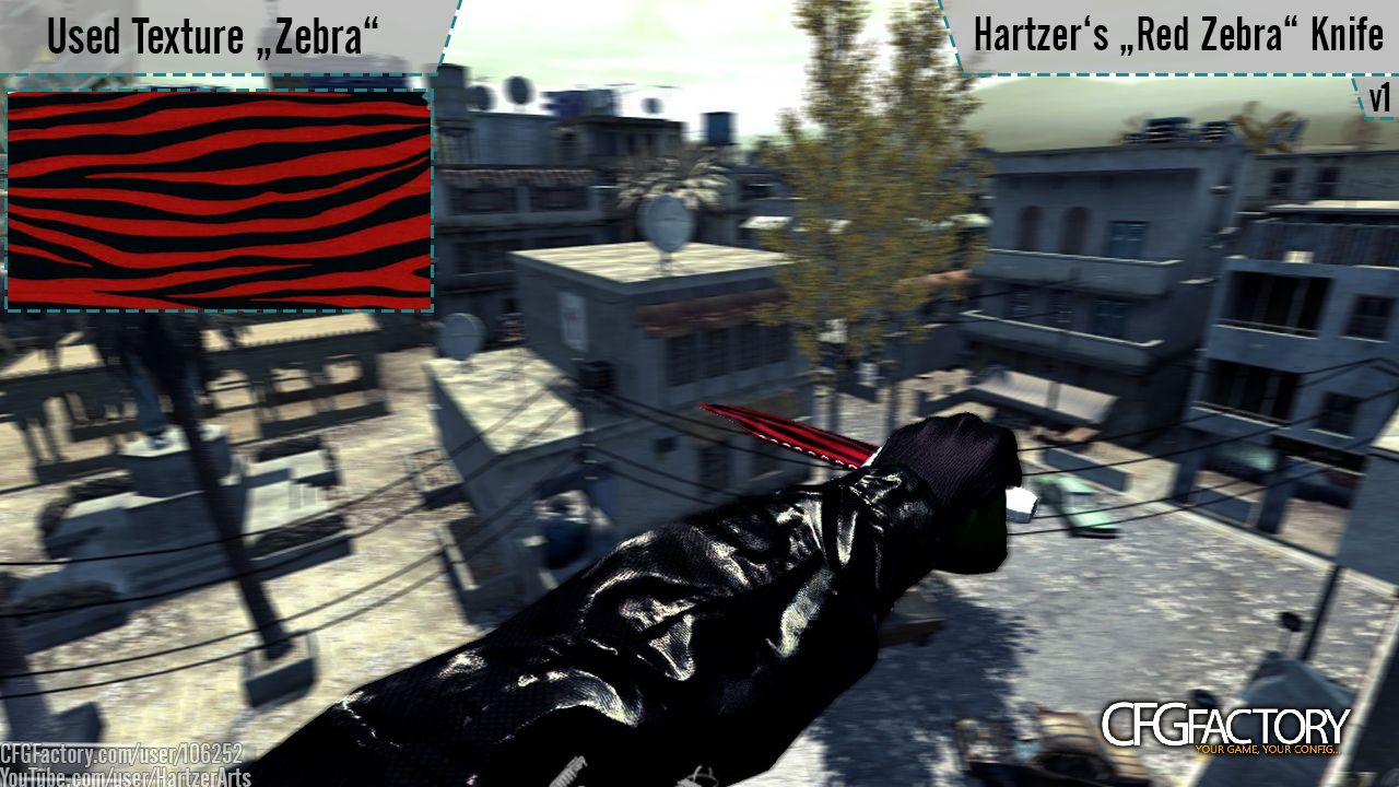 cod4, other / misc, knife red zebra, cs go rift   cod4 hartzer
