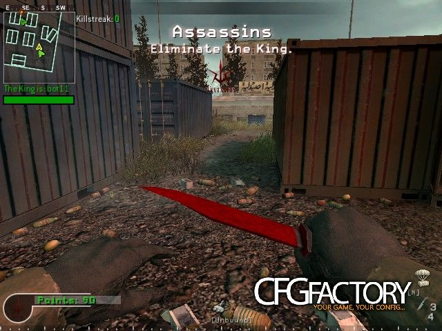 cod4, knife, m9 bayonet | crimson web, red mist