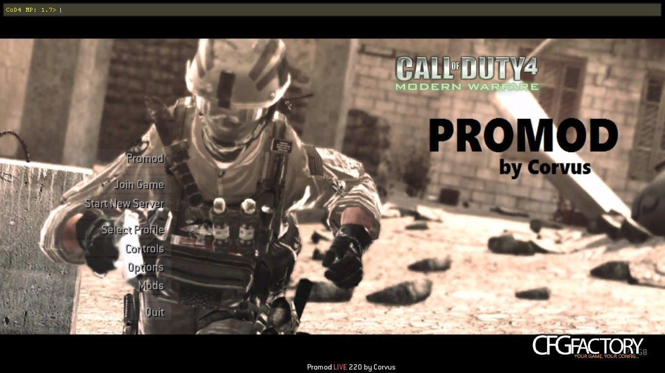 cod4, mods, promod killcam-music, corvus