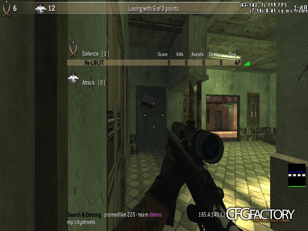cod4, configs, re-l@confing for scope only, n/a