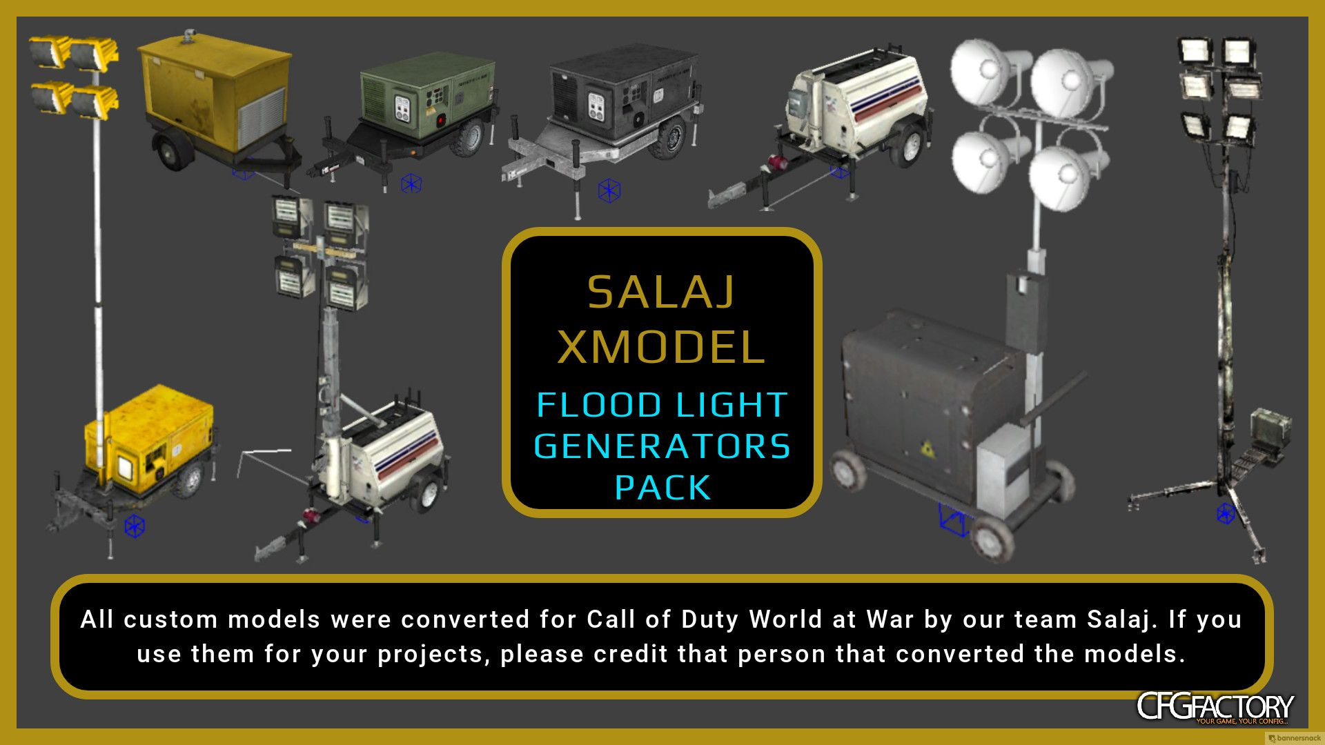 waw, salaj - xmodels, prefabs, textures, salaj - flood light generators pack, n/a