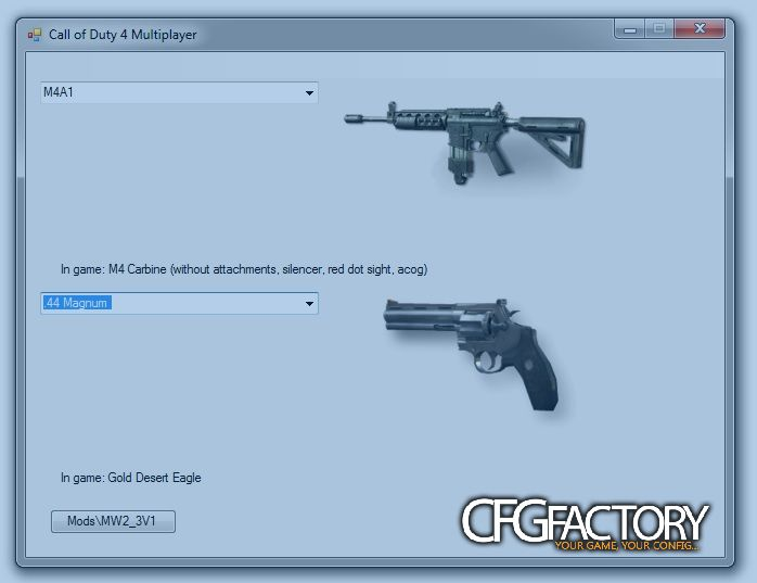 Call of Duty 4 Mods, MW2 and MW3 V1 download - CFGFactory
