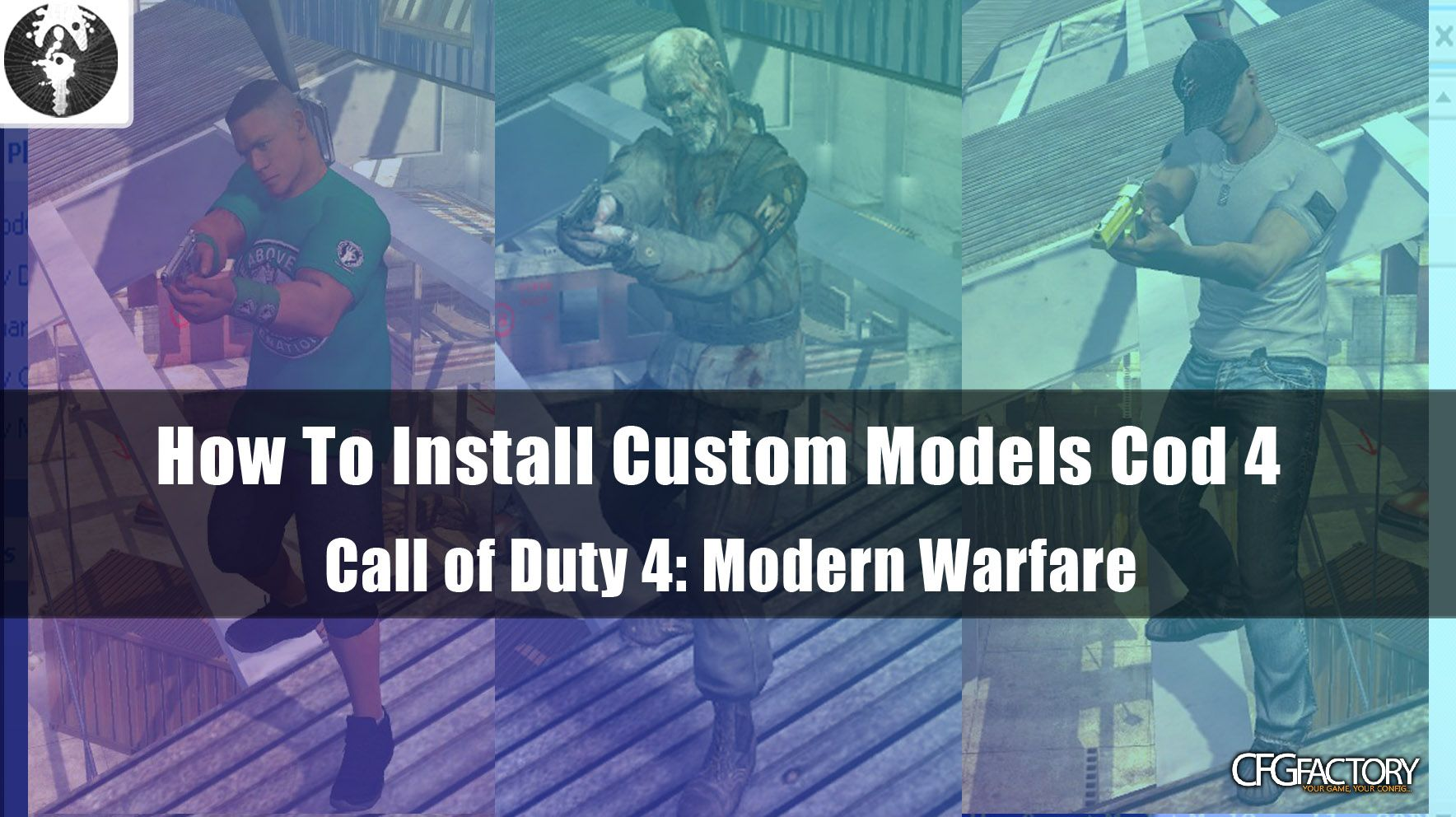 cod4, custom models, how to install custom models, snakey