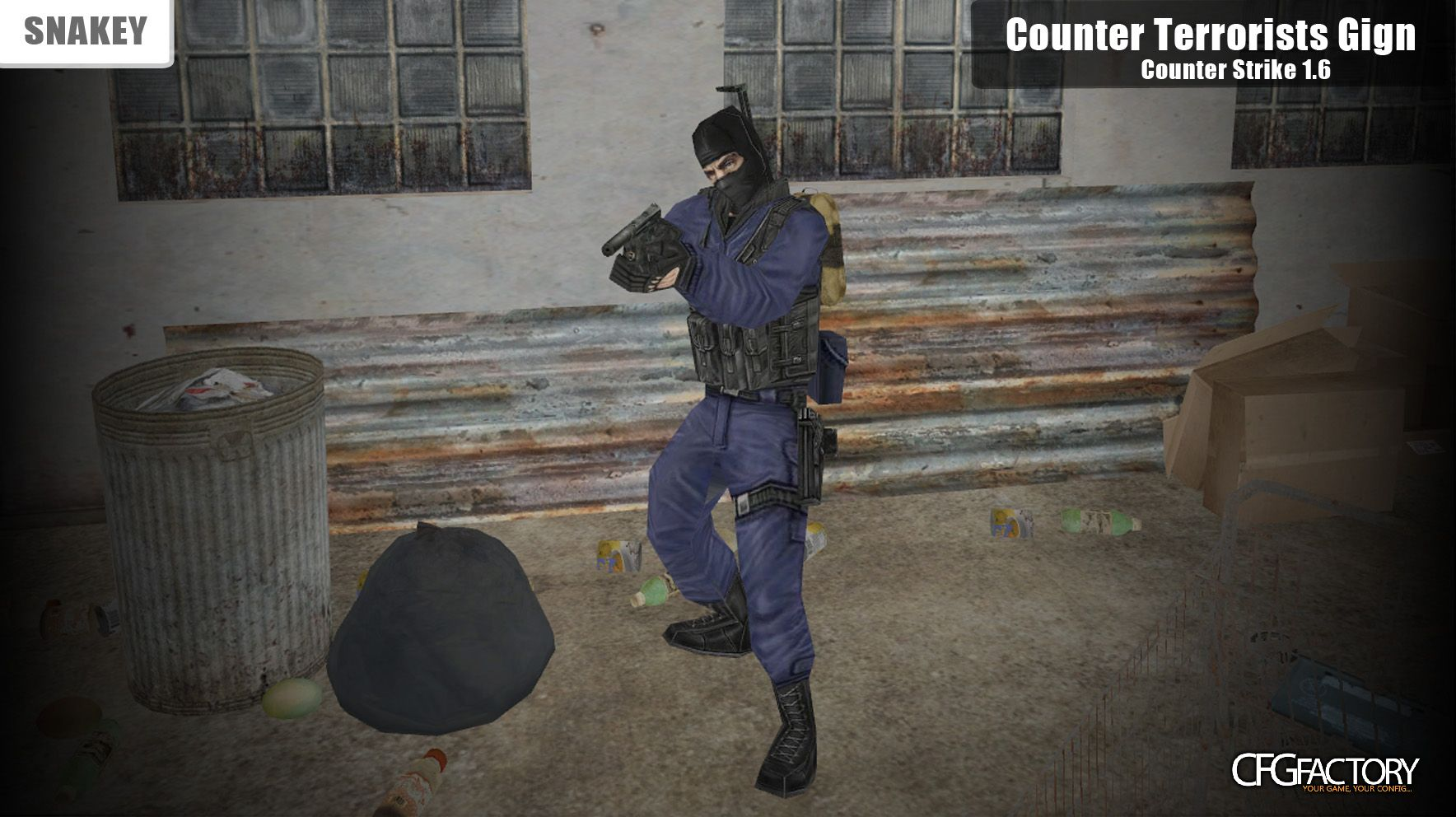 cod4, custom models, counter terrorists gign, snakey
