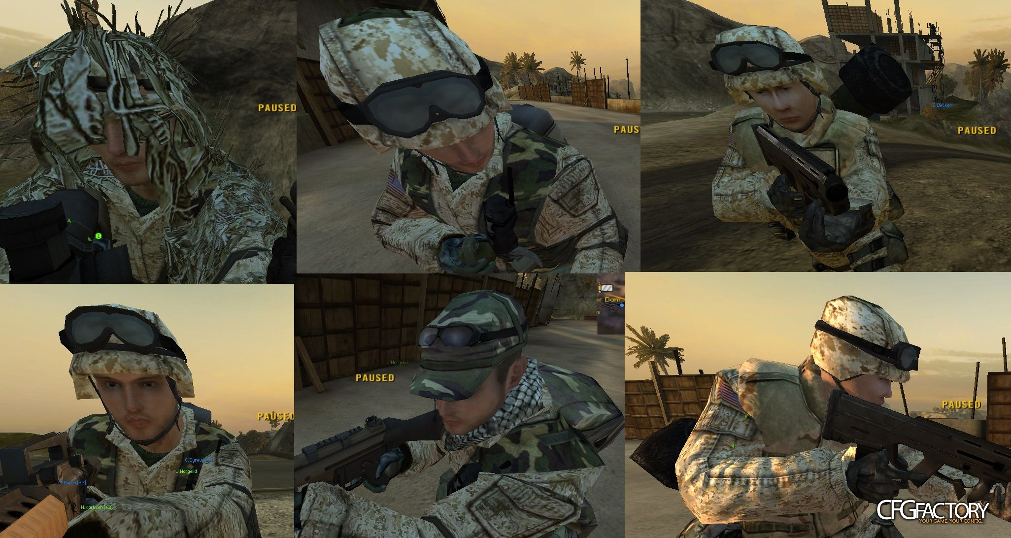 bf2, player, usa soldiers (remade face), red_spetsnaz