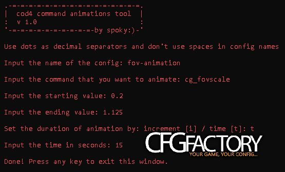 cod4, tools, cod4 script generator: command-animations, spokyash
