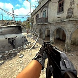 cod4, ak-47, dark, striped ak47 by ruffy, ruffy